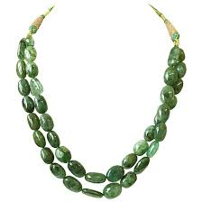 green emerald necklace images 413cts 2 line real natural oval green emerald necklace sn840 jpg
