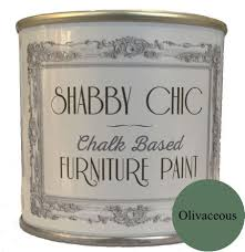 olivaceous green shabby chic furniture chalk paint 1 litre