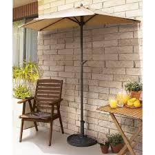 Patio Half Umbrella Half Umbrella With Stand Innovations