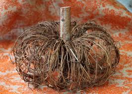 spirit halloween grapevine craft a natural pumpkin from grapevine wreaths hgtv