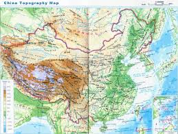 Geographical Map China Geography Location Regional Divisions Mountains Rivers