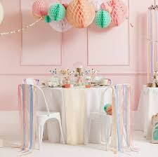pastel paper decorations by blossom