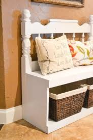 Old Door Headboards For Sale by Diy Headboard Bench Can Be Used With Any Size Headboard Make