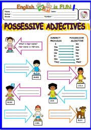 english worksheets possessive adjectives worksheets page 8