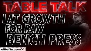 tips for lat growth for the raw bench press elitefts com youtube