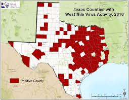 Counties In Texas Map 2016 Texas West Nile Virus Maps