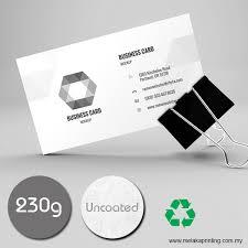 Ivory Business Cards Name Card 230g Ivory Card First Melaka Printing