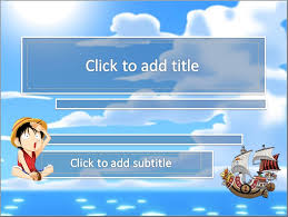 one piece luffy powerpoint templates