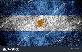 argentina flag on grungy metal stock illustration 414656149