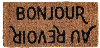 Bonjour Doormat Eplucher More About Friendship And Bernard U0027s Courgette