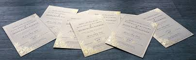 Foil Wedding Invitations Foil Printed Wedding Invitations New Zealand Silver Gold Black White