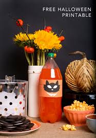Printable Halloween Pumpkins by Halloween Decor With Orange Soda Pumpkin Printable Diana Elizabeth