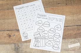 free poppin sight word worksheets