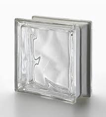 neutro clear wavy metalized pegasus glass blocks 5 pack 19x19x8