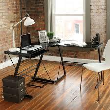 3 piece glass desk walker edison 3 piece soreno desk black with black glass d51b29