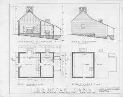 Floorplan Of A House Cross Section West Elevation Floor Plans Brinegar House Home