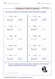 estimation word problems 4th grade rounding and estimating money worksheets