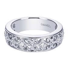 filigree wedding band 14k white gold filigree diamond wedding band wedding day