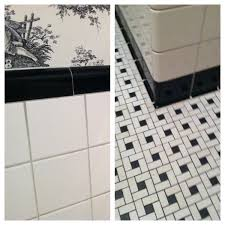 Black And White Bathroom Tiles Ideas by 30 Great Pictures And Ideas Basketweave Bathroom Floor Tile