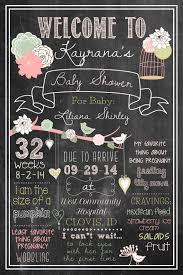 baby shower welcome sign 20x30 shabby chic chalkboard girly bird by brandingwithbrandi