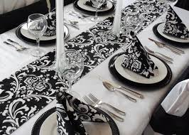 damask table runner black and white wedding free ship 16 00 via