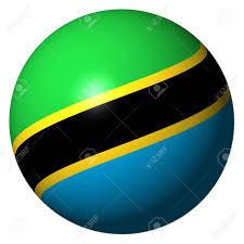 Flag Of Tanzania Tanzania Flag Sphere Isolated On White Illustration Stock Photo