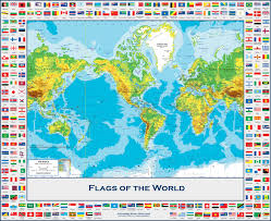 Map Of Cayman Islands Flags Of The World Physical Wall Map