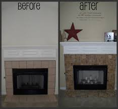 creative travertine tile fireplace surround known grand article