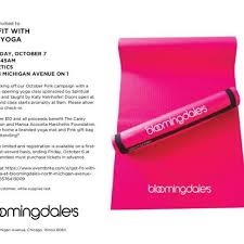 Bloomingdale 39 s get fit with pink yoga chicago il business directory