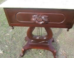 antique wood end tables vintage end table etsy