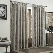 Curtains One Panel Or Two Twopages Two Layer Jacquard Polyester Crinkle Design Tab Top