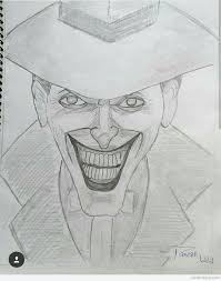 pencil sketch of joker desipainters com