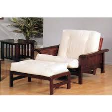Futon Armchair Sleigh Arm Futon Chair With Ottoman 2521c Iem Idollarstore Com