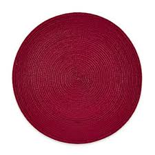 Placemats Bed Bath And Beyond Buy Round Red Placemats From Bed Bath U0026 Beyond
