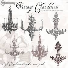 Vintage French Chandeliers Vintage French Clip Art 75