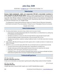 Veterinarian Resume Sample by Veterinary Resume Writing Service Ihireveterinary