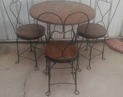 ice cream table and chairs antique metal wire twist leg ice cream parlor table legs
