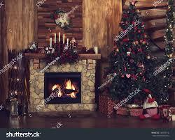 beautiful holiday decorated room christmas tree stock photo
