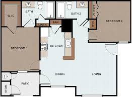 Two Bedroom Floor Plan by Vida Que Canta Apartments For Rent In Mission Texas