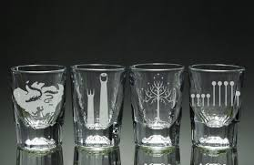 game of thrones house etched shot glasses set of 4