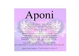 meaning of the name aponi is butterfly