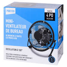 le bureau usb usb desk fan 4 in oscillating fans canac