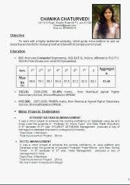 Sample Resume Format For Fresh by Sample Resume For Hotel Management Fresher Gallery Creawizard Com