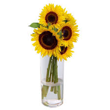 Vase Of Sunflowers Table Flowers Delivery Cyprus Fa1573 Sunflowers Vase