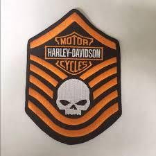 harley davidson skull motorcycle patch os from cjaye s