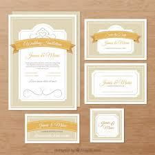fancy wedding invitations wedding invitations vector free