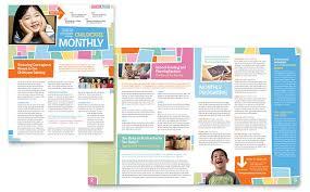 preschool kids u0026 day care newsletter template design