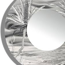 mirror 106 modern tropical metal wall mirror silver abstract