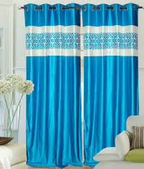 k decor set of 4 long door eyelet curtains abstract blue buy k