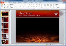 flames powerpoint template with animations